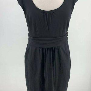 Boden Womens 10P Black Jersey T-Shirt Sleeve Dress